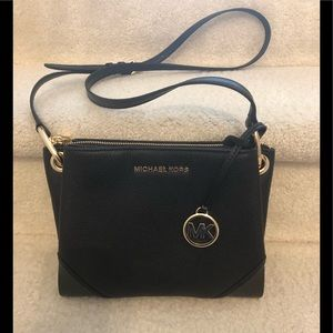 Michael Kors triple compartment leather crossbody
